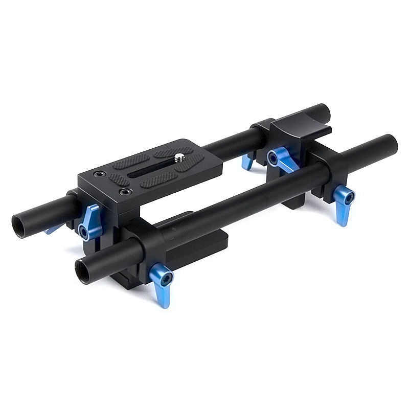 DSLR 15mm Rail Rod soporte sistema base montaje para caja mate Follow Focus Canon Nikon Sony 5D2 5D3 700D D5200 D800