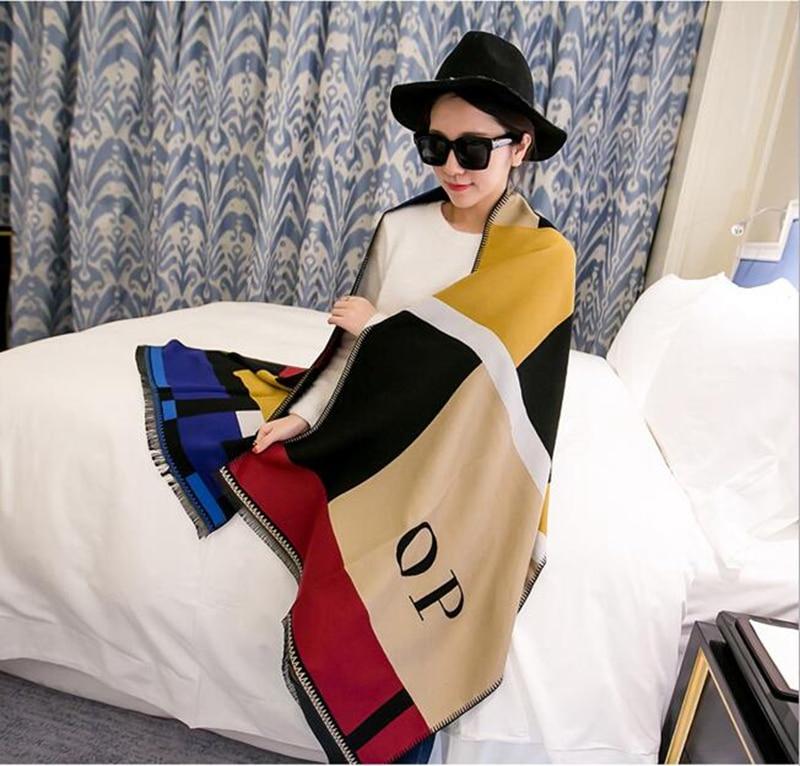 Woman winter new super-thick plaid scarf shawl