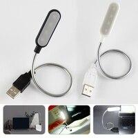 Гибкий портативный USB-светильник для чтения, лампа с 4 светодиодами, ночники, миниатюрная Светодиодная лампа с клавиатурой, настольные лампы...