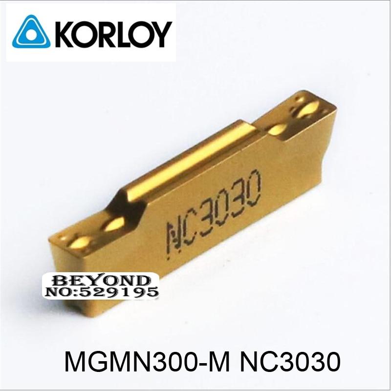 Korloy MGMN300-M Original NC3030 MGMN300 MGMN 300 insertos de carburo torno cortador herramientas de torneado herramienta titular CNC hoja Original