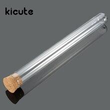 Kicute 50 pièces/lot Tube à essai en verre de laboratoire avec bouchons en liège papeterie éducative de laboratoire 18X180mm
