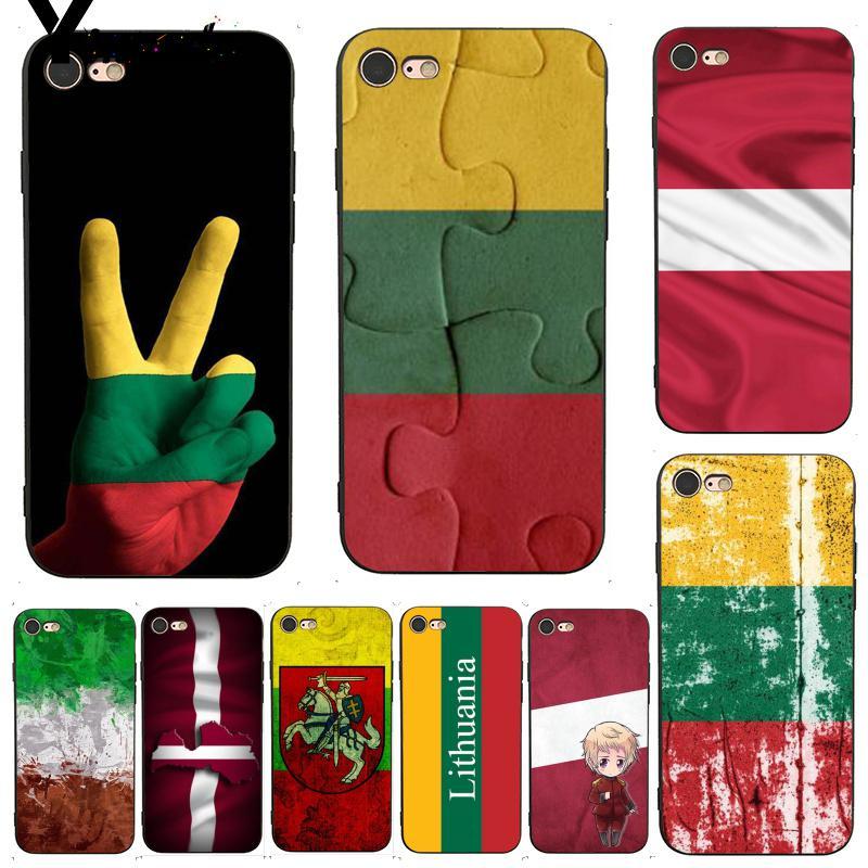 Funda Yinuoda para iphone 7 6 X Bandera de Lituania de Letonia, espléndido funda de accesorios para iphone 7X6 6S 8 Plus X 5 XS XR