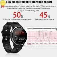 ecg ppg watch color screen heart rate blood pressure sleep ecg monitor smart watch ip67 waterproof dynamic hear rate smartwatch