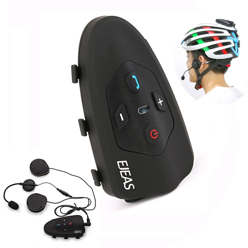 2017 Ejeas Eagle 2 Rider ciclismo Interphone Bluetooth moto casco auriculares 120 km Full Duplex intercomunicador