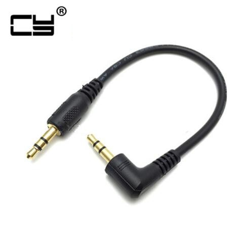 Ultra short 3.5mm Aux Cable 15cm Male to Male Gold Plated 90 Degree Angle Audio Cable for MP3 Car ph
