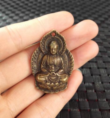 China archaize Sakyamuni de bronce Buda pequeño colgante