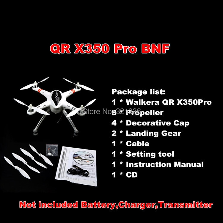 NEW 2014 Upgrade Version WALKERA QR X350 Pro GPS Drone 6CH Brushless UFO DEVO F7 Transmitter RC Heli