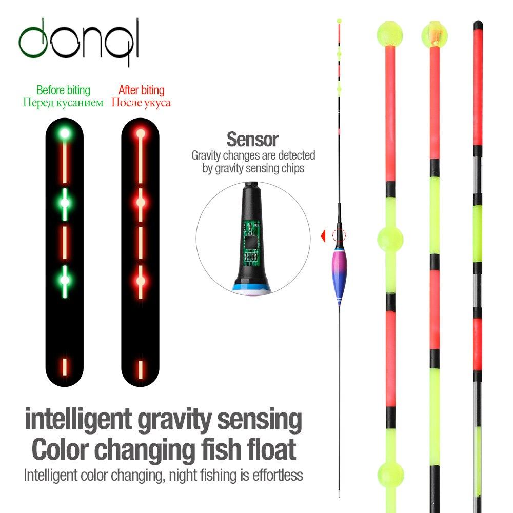 Sensor de gravedad DONQL luz Led de pesca inteligente boya de pesca eléctrica con baterías
