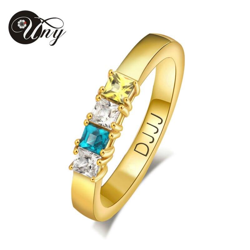 حلقة uny الأم هدايا الذكرى خواتم شخصية مخصصة المولد diy نقش خاتم 925 الفضة bff الحب خواتم الخطبة