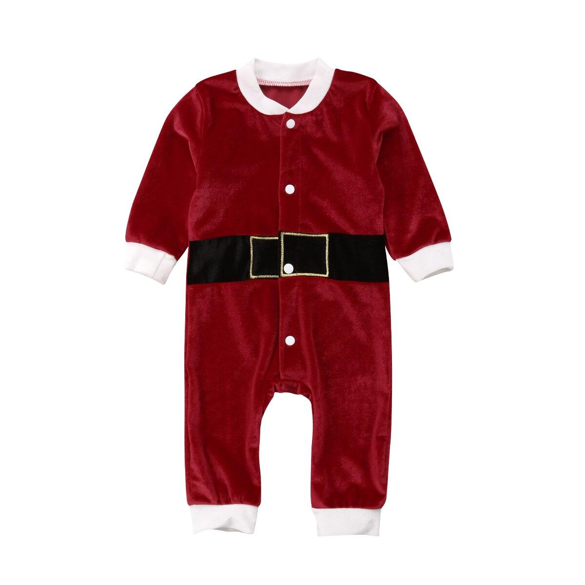 2018 bebé recién nacido niños niñas manga larga Navidad mameluco Unisex Santa traje pijamas ropa otoño Navidad trajes