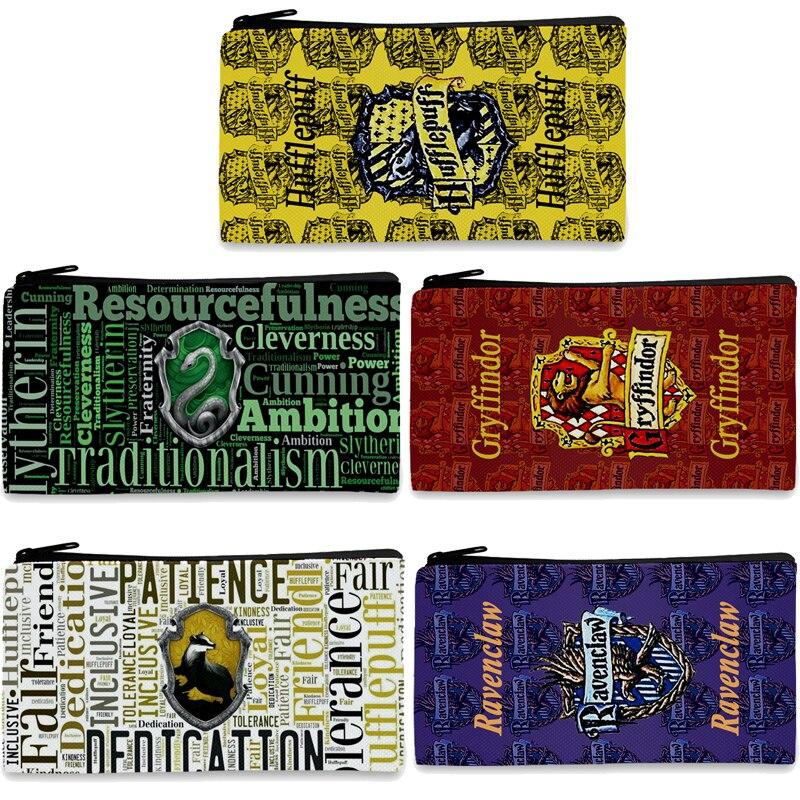 potter Hogwarts Gryffindor Slytherin death Hallows Pencil Stationery Make up Bag Pen Case Storage action toy figure