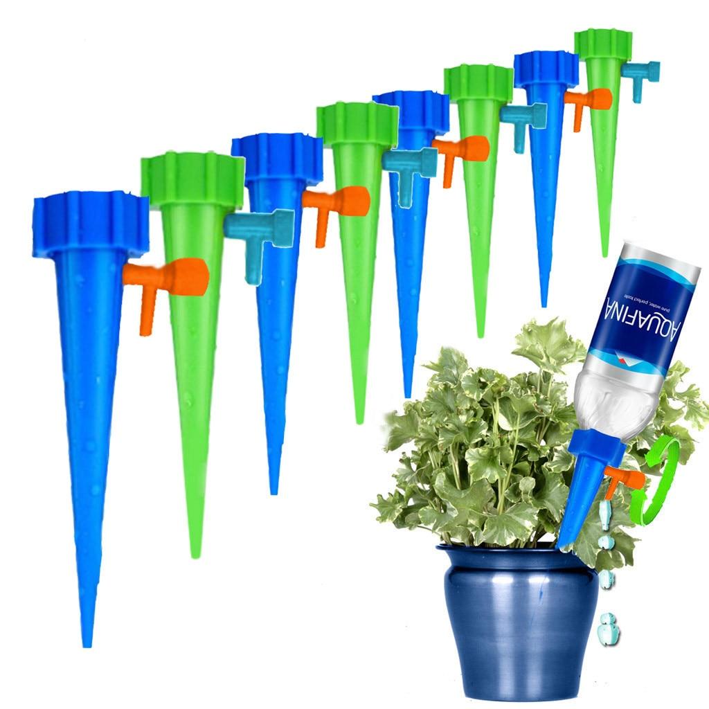 12 pçs kits de rega automática jardim suprimentos irrigação ajustável estacas sistema dispositivo planta spikes planta vaso flor