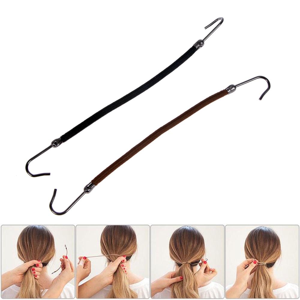 5 teile/los Elastische Haar Bands Gummibänder Gum Haken Haar Styling Pferdeschwanz Haken Halter Bungee Bands Haarband Haar Zubehör