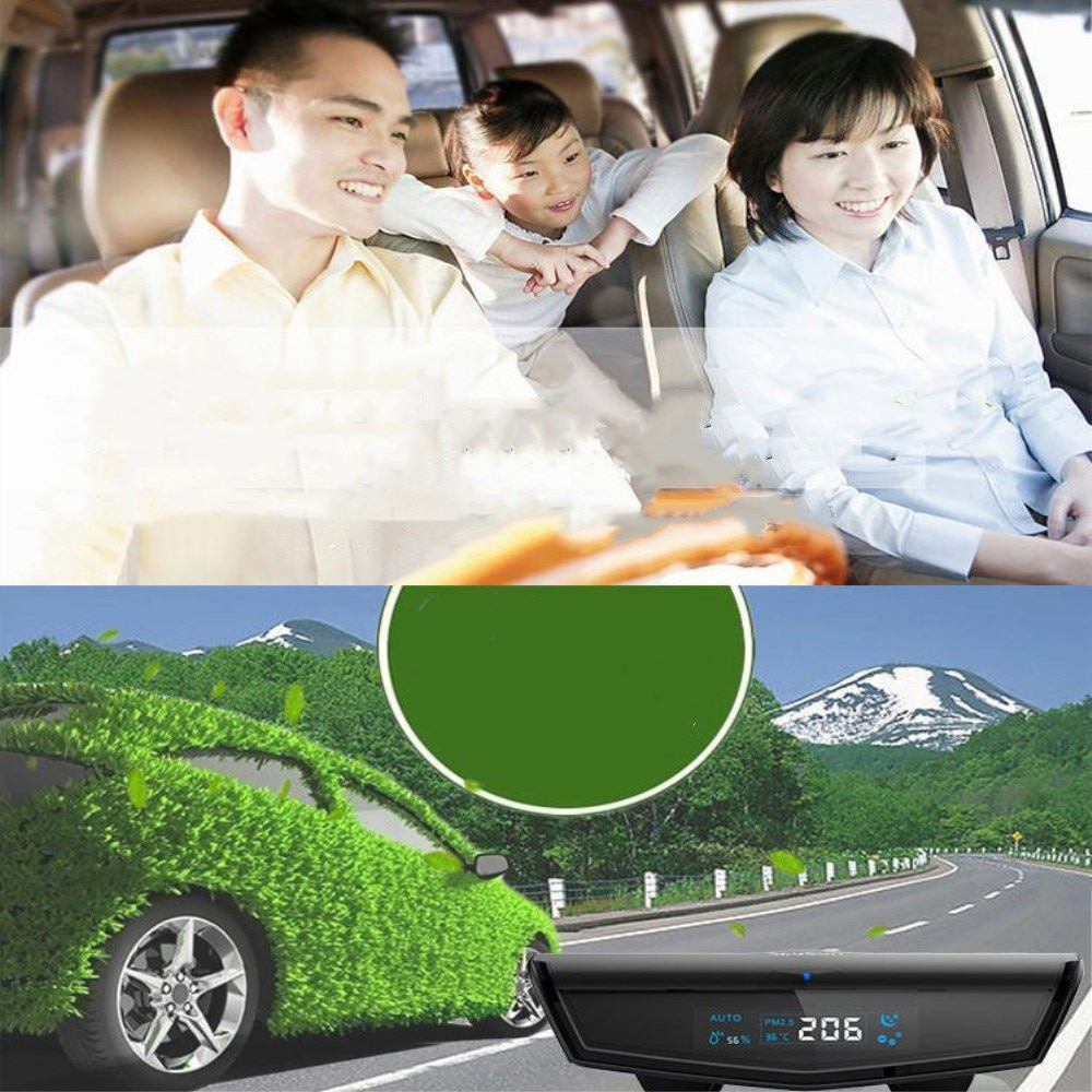 Vehicle ai automatic intelligent purifier using humidification to remove formaldehyde, odor, aroma, moisture, and odor.