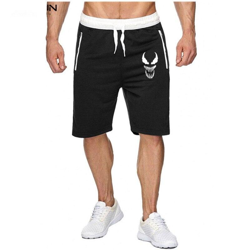 Marca de moda, pantalones cortos Venom para hombre, Primavera Verano 2019, pantalones de chándal para hombre, pantalones cortos de moda para entrenamiento de culturismo y ejercicio para hombre