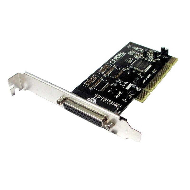 Impresora de Puerto Paralelo DB25 LPT PCI a la Tarjeta de Expansión PCI Adaptador Convertidor Chipset Moschip MCS9865 Win8 Win10