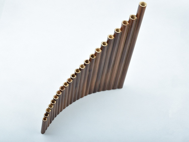 22 Tubes Left Hand Bitter Bamboo Pan Flute Woowind Instrument Panpipes Flauta Handmade Panflute With Leather Bag enlarge