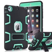 Voor Apple iPad Mini 1/2/3 Case Cover Hoge Slagvast Hybrid Drie Layer Heavy Duty Armor defender Full Body Protector Case