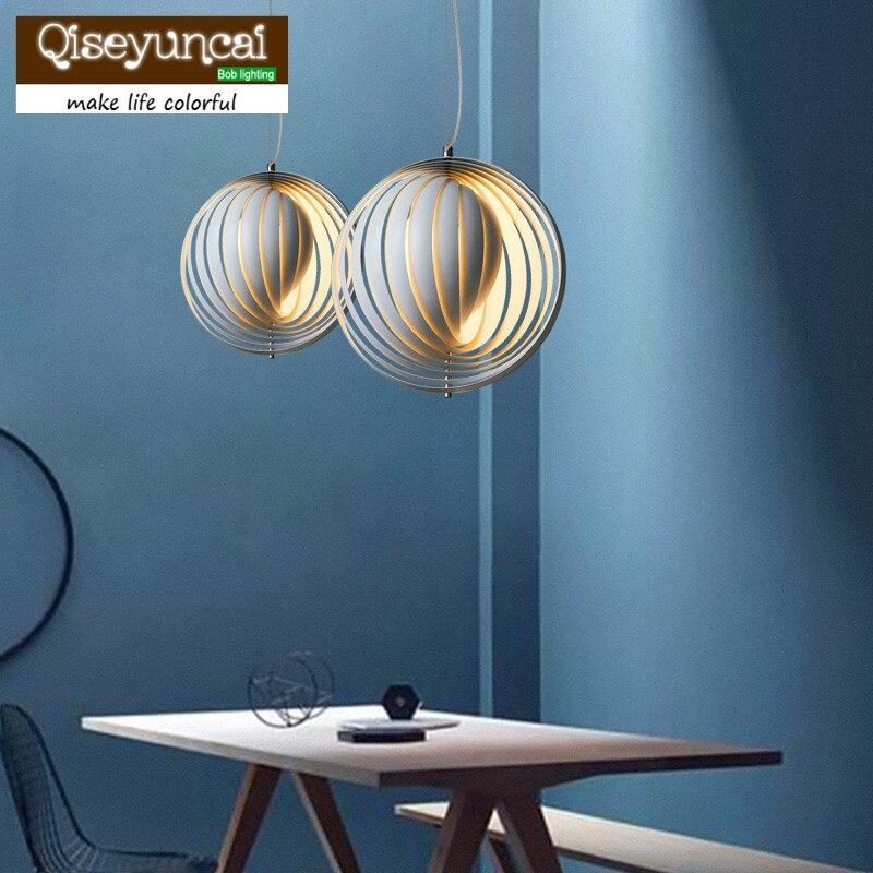 Lámpara de bar de restaurante minimalista retro país americano qiseuncai estilo europeo lámpara de Luna Panton