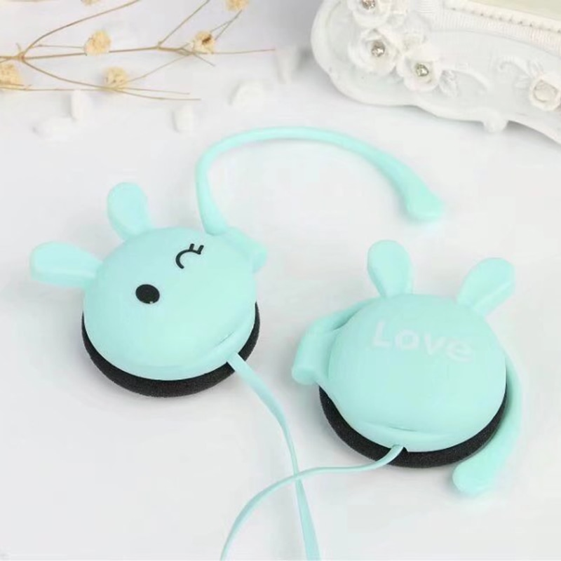 Cute Rabbit Wired Headphone Gril Children 3.5mm Headphone Music Headset Earphones For iPhone 6 Samsung XIAOMI MP3/4