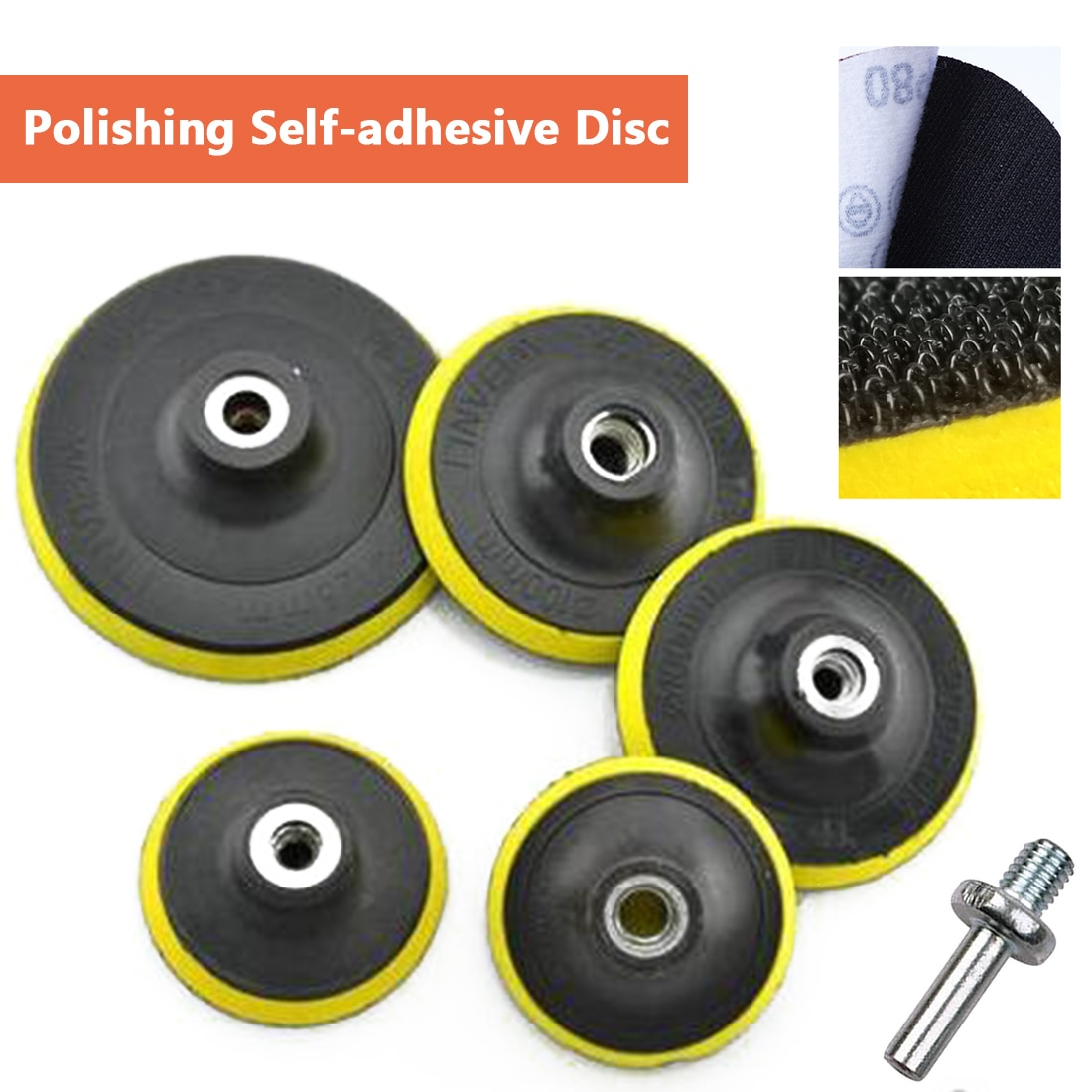 Lipnus poliravimo padas 3/4/5/6/7 colių šlifavimo popieriaus čiulptuko poliravimo diskas elektrinių šlifuoklių poliravimo įrankiams