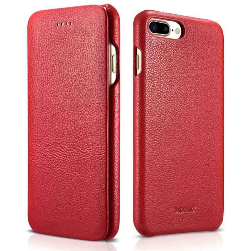 Чехол-книжка из натуральной воловьей кожи с текстурой личи для iPhone7 8, деловой чехол из натуральной кожи для смартфонов Apple iPhone 7Plus 8Plus