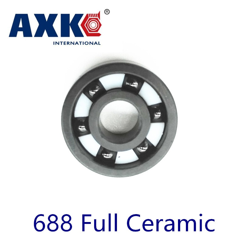 Axk 688 Full Ceramic Bearing ( 1 Pc ) 8*16*4 Mm Si3n4 Material 688ce All Silicon Nitride 618/8 Ball Bearings