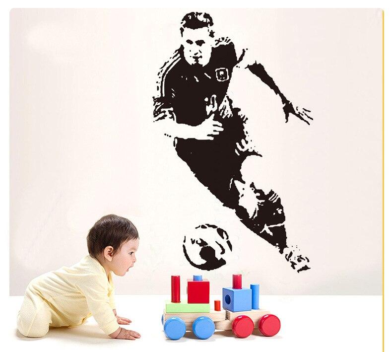 Envío Gratis lionel messi barcelona pegatinas para pared de fútbol jugador de fútbol Barcelona Poster calcomanía decoración pegatina deportiva DIY regalo