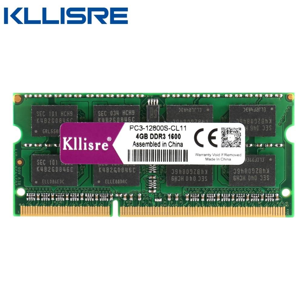 Kllisre DDR3 8GB 4GB Ram laptop 1333 1600 DDR3L PC3L 204pin Sodimm DDR Notebook 3 memória