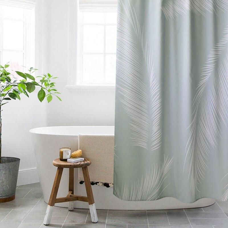 Imitação de Linho Partição à Prova Chuveiro Cortina Banheiro Nórdico Dthicken Água Engrossar Ferramentas Banho Decoração Casa Not in