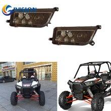 Rasoir ATV pour Polaris RZR XP   Phare noir 2 pièces Hi/Lo faisceau 1000 2014-2016