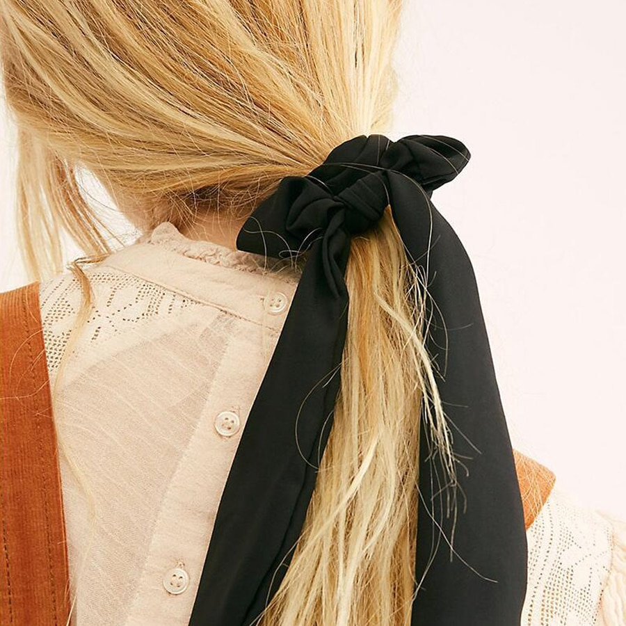 Ruoshui conejo gomas de mujer impreso Floral lazos para el cabello niñas Pelo elástico bandas de goma Haar accesorios de cola de caballo titular