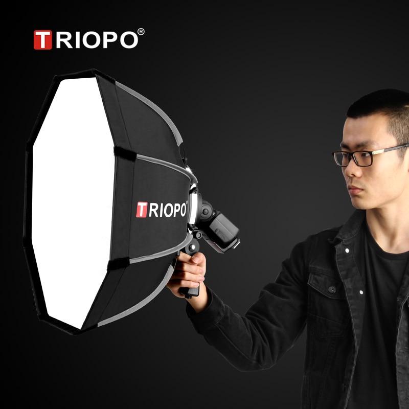 TRIOPO 65 سنتيمتر المحمولة فلاش في الهواء الطلق المثمن مظلة الفوتوغرافي Softbox ل Godox V860II AD200 Yongnuo YN560 IV TR-988 Speedlite مربع لينة
