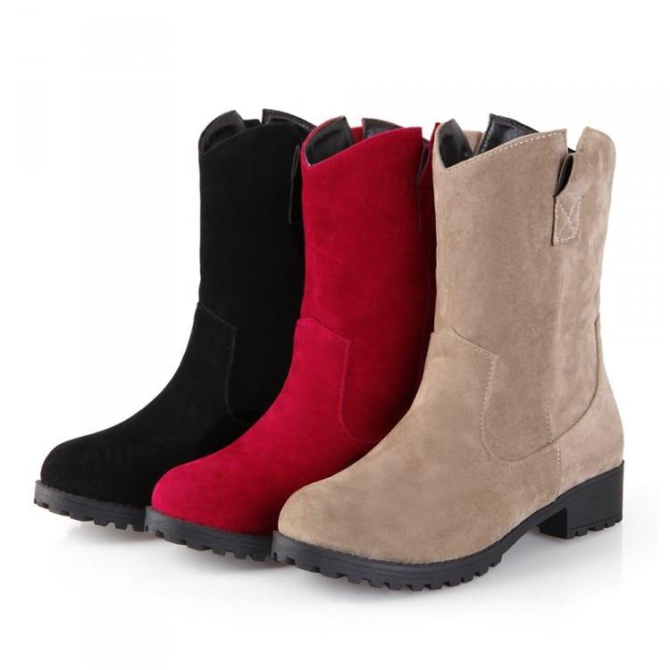 2017 Sale Boots Botas Mujer Shoes Women Boots Fashion Motocicleta Mulheres Martin Outono Inverno Botas De Couro Femininas 7337