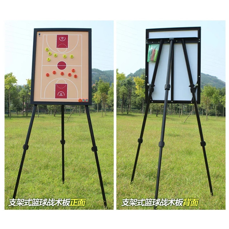 MAICCA Basketball Coaching Board with holder super big steel Magnetic Coach Tactical plate tripod book set Wholesale