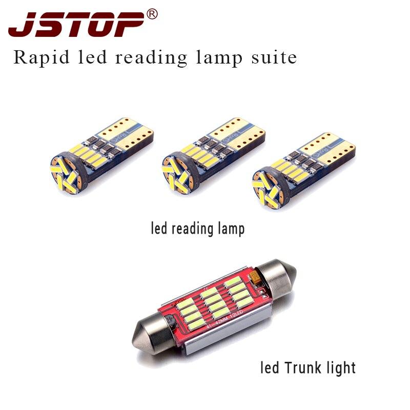 JSTOP 4 teil/satz Schnelle led lesen licht auto Stamm licht 12V birne c5w girlande led Innen lampe canbus w5w t10 led reading bulbs