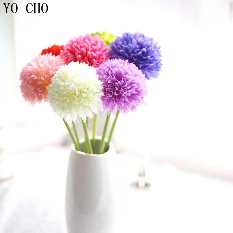Semillas artificiales de hortensias artificiales de vid de seda YO CHO flores decoración colgante para bodas decoración semillas chinas de bonsái para jardín de casa