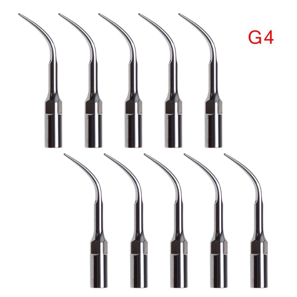 dental endo perio scaling tips for ems ultrasonic scaler handpiece 10 pcs Dental Ultrasonic Scaler Scaling Tip G4 For Woodpecker EMS Handpiece