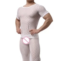 men sexy undershirt ultra thin cool thermal sleep underwear shirt close fitting short sleeve relax breathable strench undershirt
