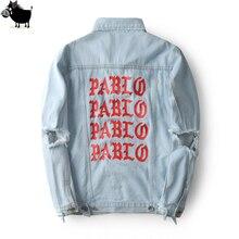 2019 nouveau Pablo Kanye West Denim vestes hommes la vie de Pablo kanye Denim Jeans surdimensionné Denim veste manteaux S-XL
