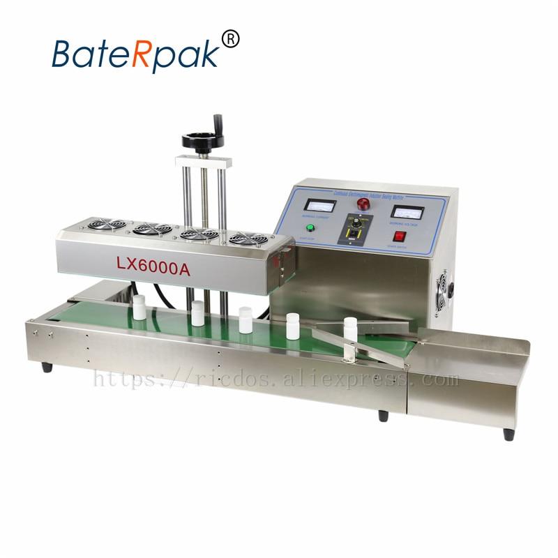LX6000A aluminum foil sealing machine,electromagnetic induction sealing machine,BateRpak Continuous Induction Sealer 220V 3600W недорого