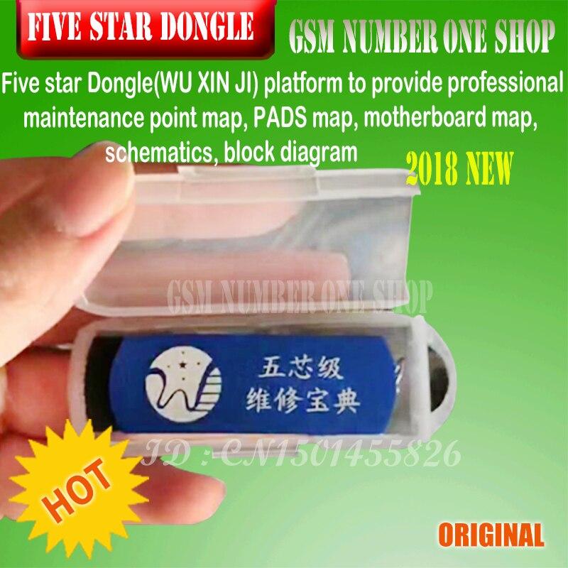 Fünf sterne Dongle VIP dongle bord schematische darstellung Reparatur für iPhone iPad samsung telefon software reparatur zeichnungen