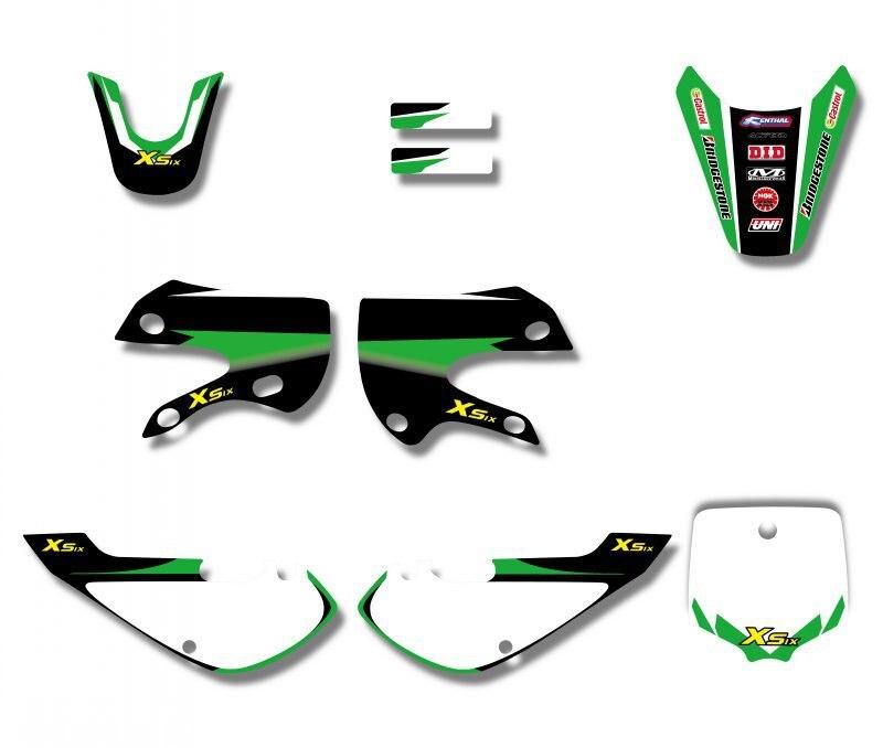 Набор стикеров H2CNC Для Кавасаки KLX110 KLX 110 KX65 KX 65 Suzuki DRZ110 DRZ 110 Pit dirbike