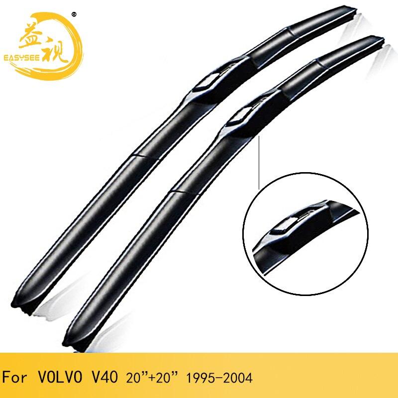 Limpiaparabrisas Easysee para 3 secciones, limpiaparabrisas de goma de invierno, accesorio para coche VOLVO V40 (1995-2004), 20 pulgadas + 20 pulgadas