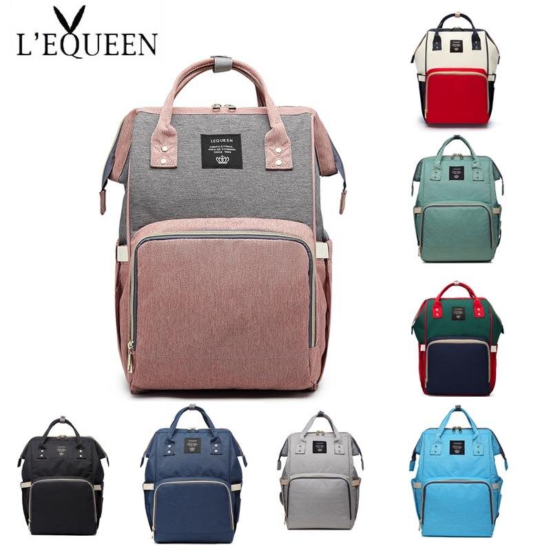 Lequeen рюкзак для путешествий, сумка для подгузников, сумка для мамы, сумка-Органайзер, сумка Портативная сумка для подгузников Сумка Большой ...