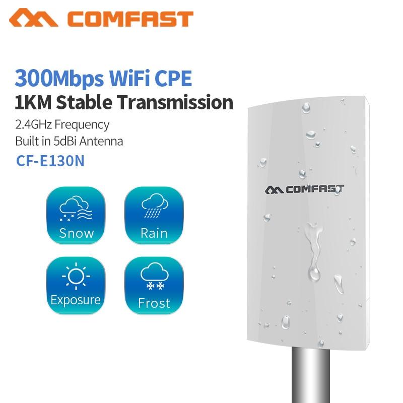 Беспроводной уличный роутер CPE, Wi-Fi удлинитель, 2,4G, 300 Мбит/с, Wi-Fi точка доступа к мосту, антенна AP, Wi-Fi ретранслятор, CF-E130, 1 км