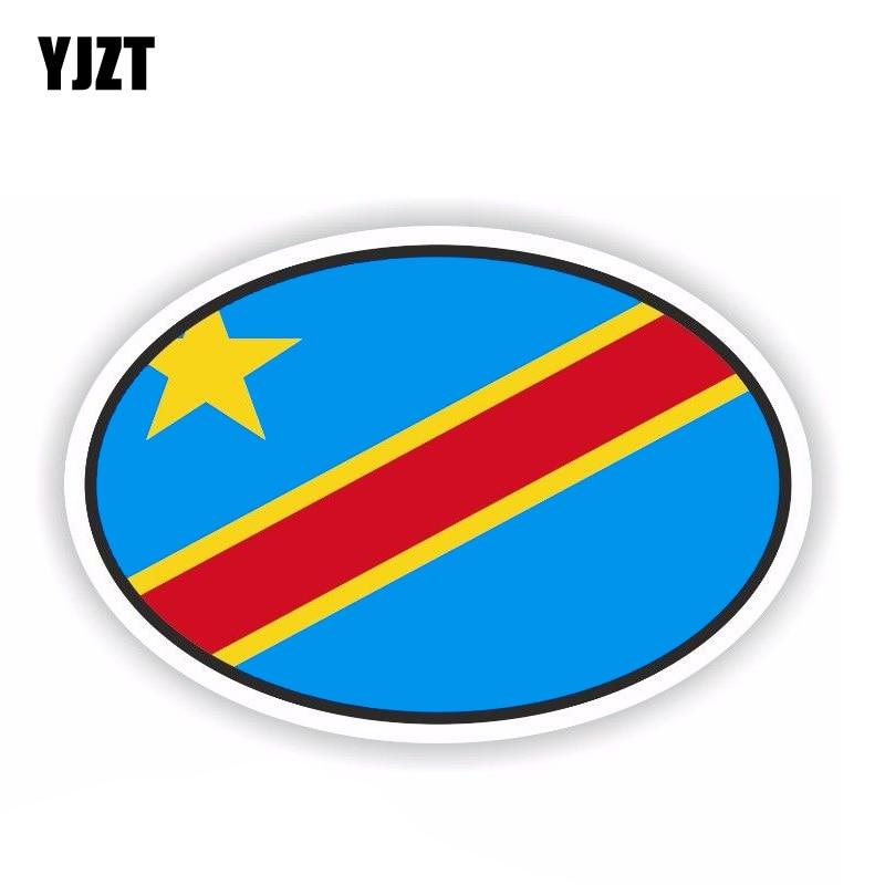 Yjzt 12.9 cm * 8.6 cm engraçado congo república democrática adesivo de carro decalque janela capacete acessórios 6-1800