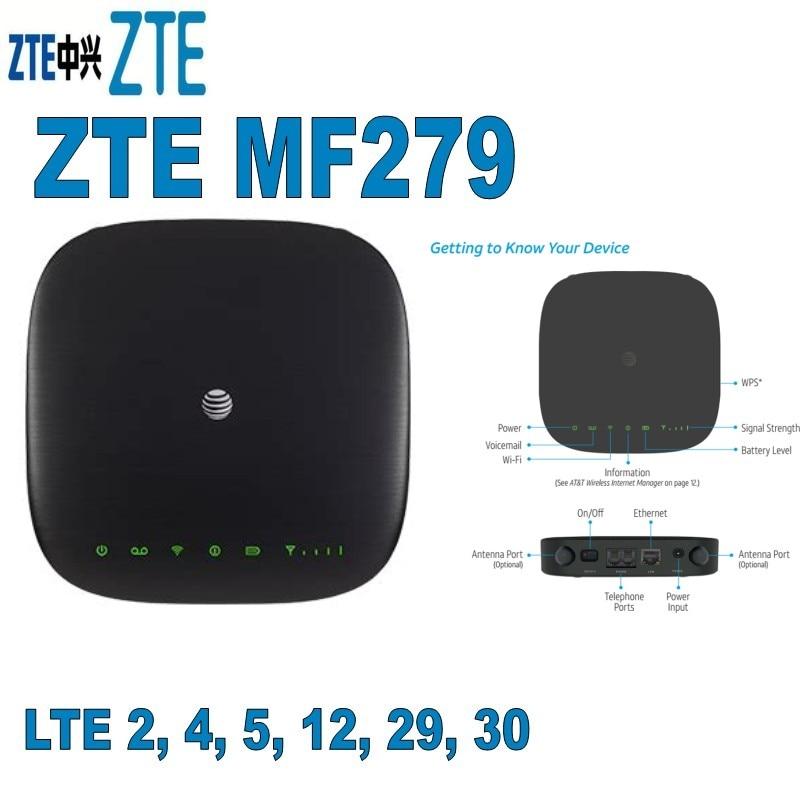 AT&T ZTE MF279 bolsillo 4G LTE WiFi Router apoyo B2/B4/B5/B12/B29/B30 4G router móvil hotspot