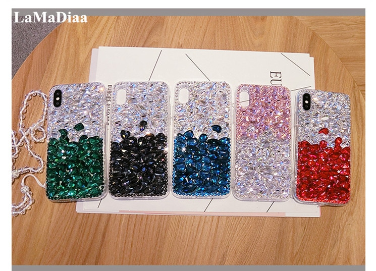 Fundas de teléfono de alta calidad DIY 3D de lujo cristal ostentoso Diamante de imitación para Samsung S10 S9 S8 Plus S7 S6 edge Note 9 8 5
