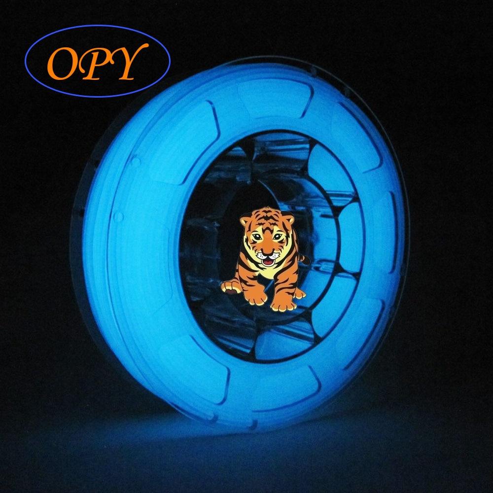 Glow In Dark Luminance Print Filament Glowing Luminous Red Green Blue Pla Base Thermoplastic Tolerance 0.02 Mm Model